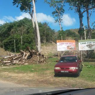 Ten acres for sale in Scarborough, Tobago