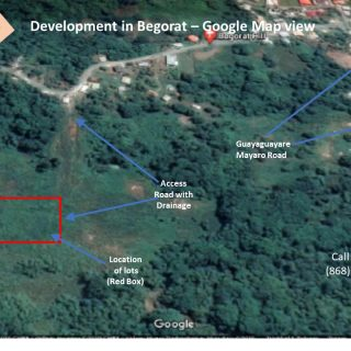 PRICE REDUCED: Development with more than 78 lots in Begorat Trace, MAYARO – Only 7 lots for sale!!!