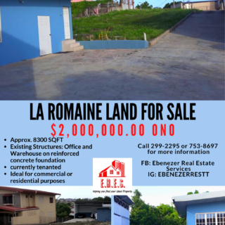 La Romaine Land with Office and Warehouse for Sale