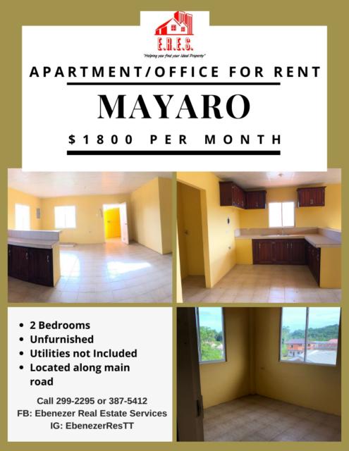 Mafeking Mayaro Apartment/Office Rental