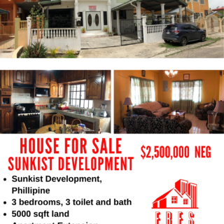 House for Sale Sunkist Development