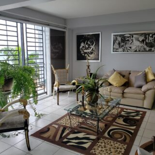 Beautifully decorated apartment for rent at THE BATTERY Fort George, St James.