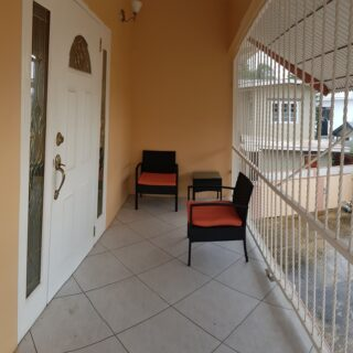 Beautifully appointed, 2 bedrooms, 1 bath, upper floor, FF & FE Woodbrook apartment now available for rent!