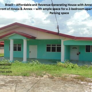 Investment Bargain: Affordable, Revenue Generating ($6,000/mth) Brazil House with Annex for sale