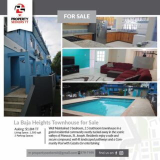 La Baja Heights, St. Joseph Townhouse for Sale