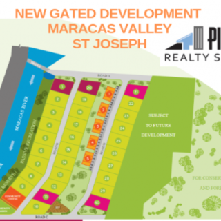New Gated Development LAND ONLY – Maracas Valley, St. Joseph