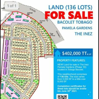 Lots for Sale in The Inez Development Bacolet, Tobago