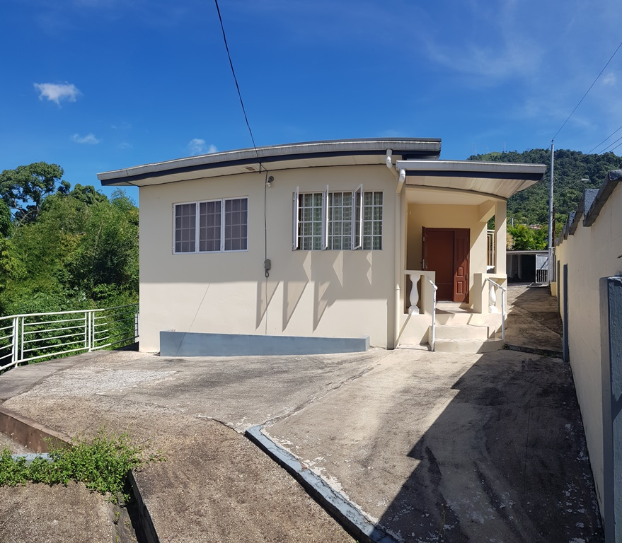 2 bedroom, 1 bath, UF, Diego Martin house available for rent from February 1st.