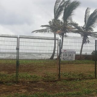 Filled and fenced Manzanilla beachfront lot – $350,000