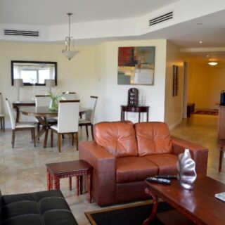FOR RENT – Tower 1, One Woodbrook Place, Woodbrook – Fully furnished apartment with view of the hills