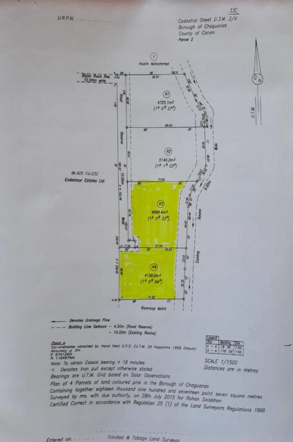 COMMERCIAL LAND FOR SALE BEHIND XTRA FOODS CHAGUANAS