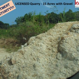 15 Acres Licensed Quarry in Sangre Grande with Equipment