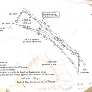 FOR SALE – Kelly Trace, Piarco – Residential land with 2 storey house