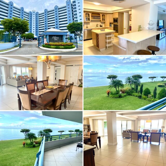 BEAUTIFULLY FURNISHED, END UNIT, 4 BEDROOM LA RIVIERA APARTMENT FOR RENT OR SALE WITH FULL OCEAN VIEWS-WESTMOORINGS ON THE SEA
