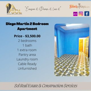Two Bedroom Apartment – Diego Martin